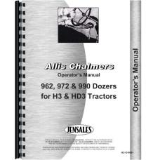 Allis Chalmers 962 Dozer Attachment Operators Manual