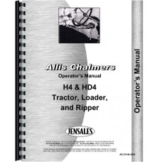 Allis Chalmers H4 Crawler Operators Manual