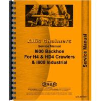 Allis Chalmers I-600 Backhoe Attachment Service Manual