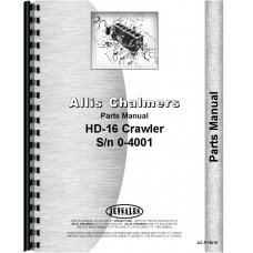 Allis Chalmers HD16 Crawler Parts Manual (SN# 0-4001) (diesel only)