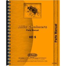 Allis Chalmers HD5F Crawler Parts Manual