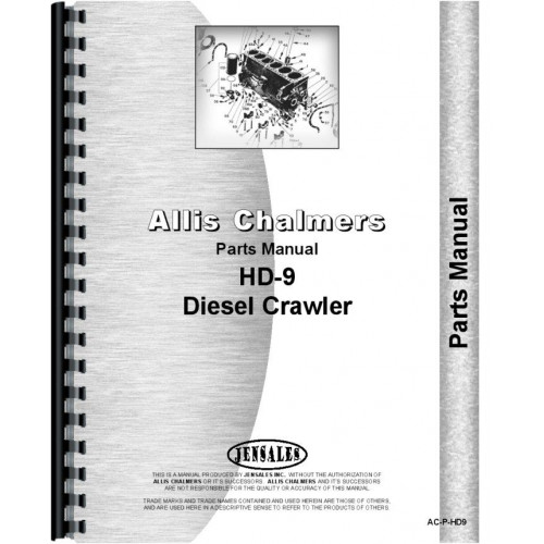 Allis Chalmers HD9 Crawler Parts Manual