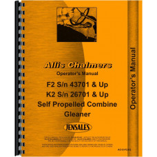 Allis Chalmers K2 Combine Operators Manual (Sn 26,701 & Up) (Self Propelled)
