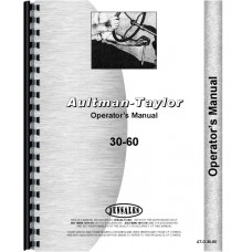 Aultman and Taylor 30-60 Tractor Operators Manual