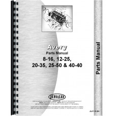 Avery 16-8 Tractor Parts Manual