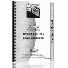Image of Badger BN1000, BN1005 Haybine Operators Manual