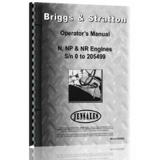 Briggs And Stratton N, NP, NR Engine Operators Manual (SN# to-205449, 1946) (205449)