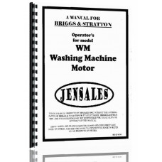 Briggs And Stratton WM Engine Operators Manual