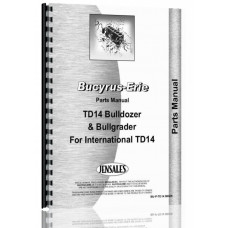 Image of Bucyrus Erie TD14 Bullgrader & Bulldozer Attachment Parts Manual