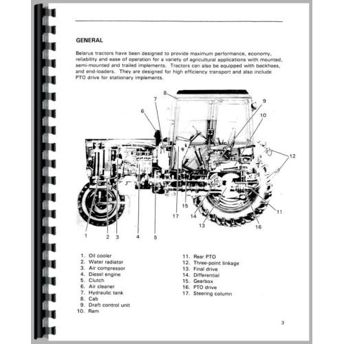 Belarus 820 Tractor Service Manual  1977