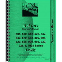 Belarus 505 Tractor Operators Manual