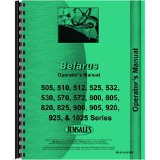 Belarus 800 Tractor Operators Manual