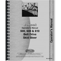 Bobcat 600 Skid Steer Loader Operators Manual
