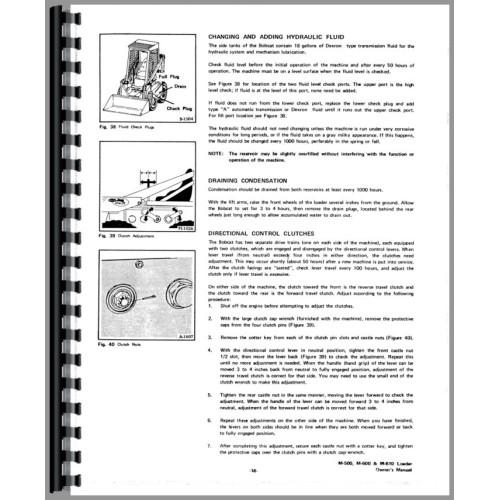 Bobcat 610 Skid Steer Loader Operators Manual