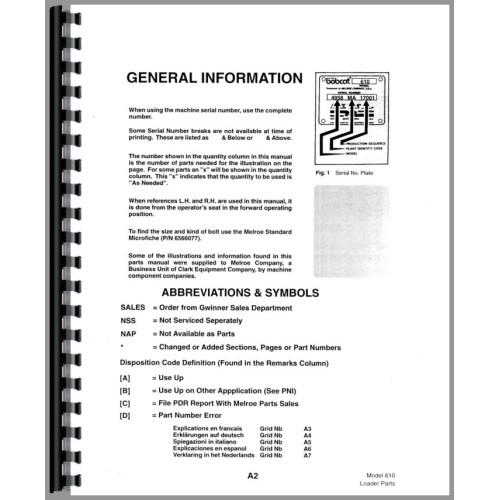 bobcat 610 parts manual pdf
