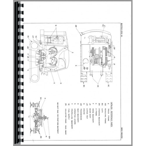 Parts Manual Bucyrus Erie 22-B Crane Shovel Clam