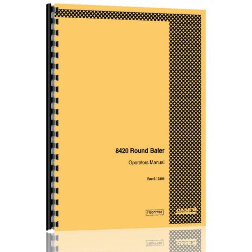 Case 8420 round Baler manual