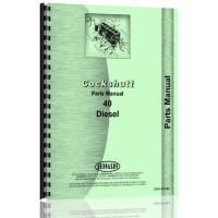 Cockshutt 40 Tractor Parts Manual (Diesel)