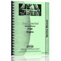 Image of Continental Engines F186 Tractor Service Manual (CON-S-F186 ENG)