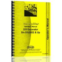 Image of Caterpillar 225 Excavator Operators Manual (S/N 51U2832 & Up) (51U2832+)