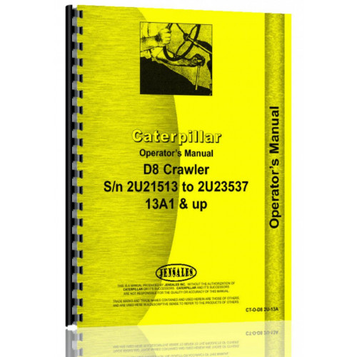 CATERPILLAR D8  Tractor Shop Service Manual SN 36A4469-36A5484 46A10725-46A28136