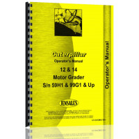 Image of Caterpillar 12 Grader Operators Manual (S/N 59H1 +, 73G1 +)