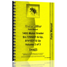 Caterpillar 140G Grader Parts Manual (S/N 72V4231 +) (72V4231+)