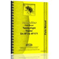 Image of Caterpillar 28 Crawler Parts Manual (SN# 4F1-4F1171)
