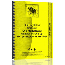 Caterpillar 4S Bulldozer Attachment Parts Manual (S/N 52E1 +, 65F1-65F220, 67F1 +, 67F181)