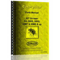 CAT CATERPILLAR 627 TRACTOR PARTS BOOK MANUAL S//N 54K771-UP 68M686-UP