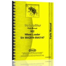 Caterpillar 922 Wheel Loader Parts Manual (S/N 59A2019-59A5147) (59A2019-59A5147)