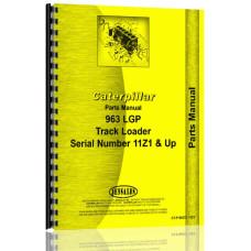 Caterpillar 963 Traxcavator Parts Manual (S/N 11Z1 +)