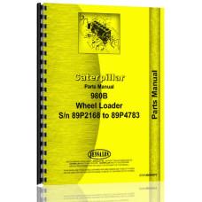 Caterpillar 980B Wheel Loader Parts Manual (S/N 89P2168-89P4783) (89P2168-89P4783)
