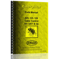 Image of Caterpillar 25 Cable Control Attachment Parts Manual (S/N 32E1 +)