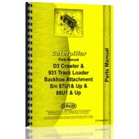 Caterpillar 931 Backhoe Attachment Parts Manual (S/N Backhoe Only, 87U1 +, 88U1 +)