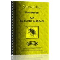 Image of Caterpillar D4D Crawler Parts Manual (S/N 83J2177-83J3421) (83J2177-83J3421)