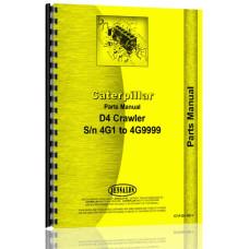 Caterpillar D4 Crawler Parts Manual (SN# 4G1-4G9999) (D4 Equip)
