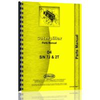 Caterpillar D4 Crawler Parts Manual (S/N 2T1-2T9999, 7J5104-7J9999) (2T1-2T9999)