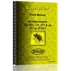 Caterpillar D4 Crawler Parts Manual (S/N 2T1-2T9999, 4G1-4G9999, 5T1-5T7411, 7J1-7J9999) (Attachment)