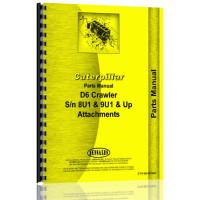 Caterpillar D6 Crawler Parts Manual (S/N 8U1 +, 9U1 +) (Attachments)