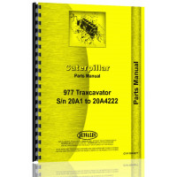 Image of Caterpillar 977 Traxcavator Parts Manual (S/N 20A1-20A4222)