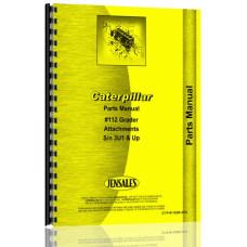 Caterpillar 112 Grader Parts Manual (S/N 3U1 +) (3U1+)