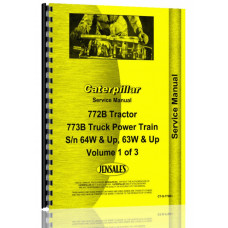 Caterpillar 772B Truck Service Manual (SN# 64W1 & Up)