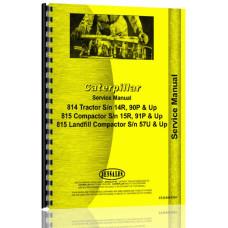 Caterpillar 814 Compactor Service Manual (SN# 57U & Up)
