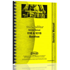 Caterpillar D3B Crawler Backhoe Attachment Service Manual (S/N 32W1, 68H1 +)