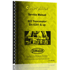 Caterpillar 922 Wheel Loader Service Manual (S/N 63A1 +)