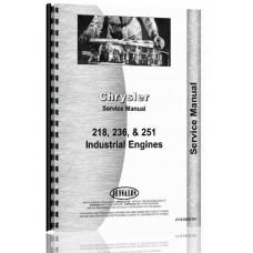 Chrysler 218, 218F, 236, 236F, 251, 251 Engine Service Manual