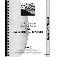 Case 1175 Tractor Operators Manual (SN# 8712001-8770000)