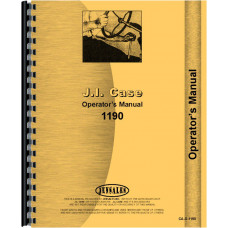 Case 1190 Tractor Operators Manual
