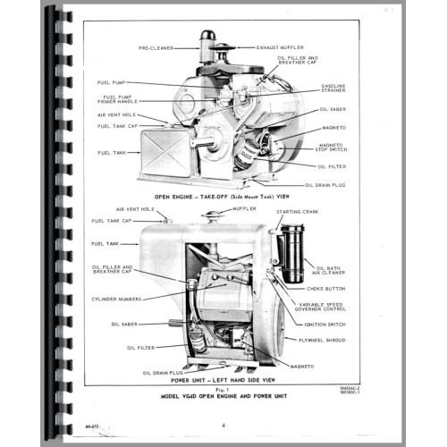 international harvester 3300b skid steer wisconsin engine